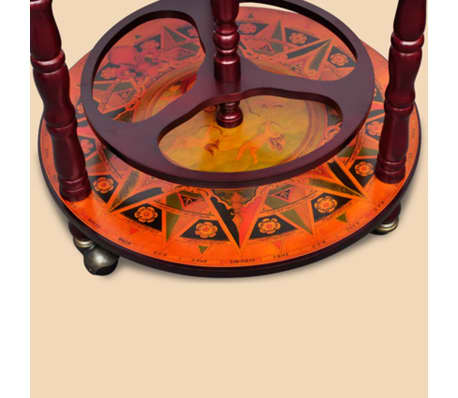 vidaXL Globe Bar Wine Stand Wood[7/8]