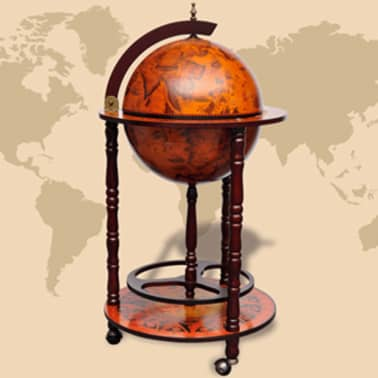 vidaXL Globe Bar Wine Stand Wood[1/8]