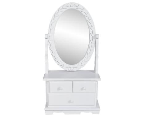 vidaXL spoguļgaldiņš, ovāls spogulis, MDF