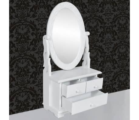 vidaXL Toaletka z MDF z obrotowym, owalnym lustrem[5/6]