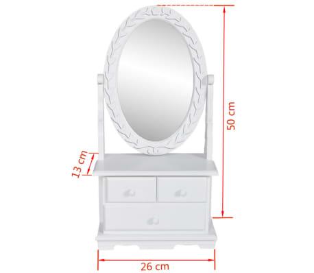 vidaXL Coiffeuse avec miroir pivotant ovale MDF[6/6]