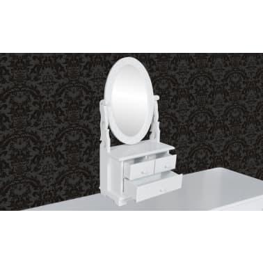 vidaXL Toaletka z MDF z obrotowym, owalnym lustrem[2/6]