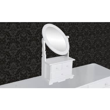 vidaXL Toaletka z MDF z obrotowym, owalnym lustrem[3/6]
