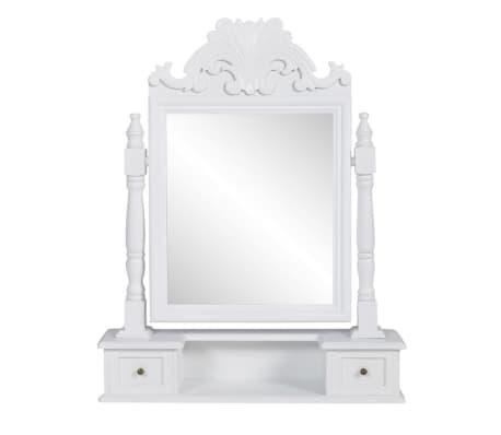 vidaXL Vanity Makeup Table with Rectangular Swing Mirror MDF