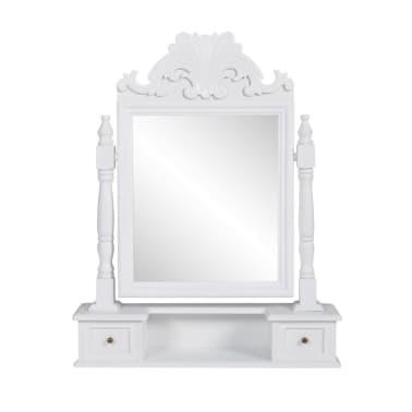 vidaXL Tocador con espejo abatible rectangular de MDF[1/6]