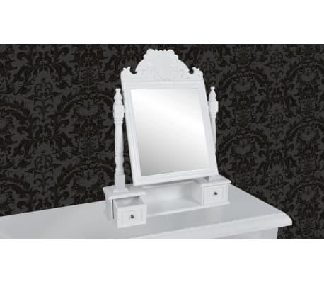 vidaXL Tocador con espejo abatible rectangular de MDF[2/6]