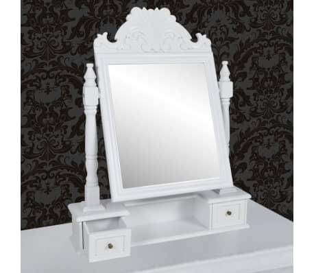 vidaXL Tocador con espejo abatible rectangular de MDF[5/6]