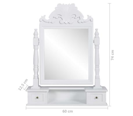 vidaXL spoguļgaldiņš, taisnstūra spogulis, MDF[6/6]