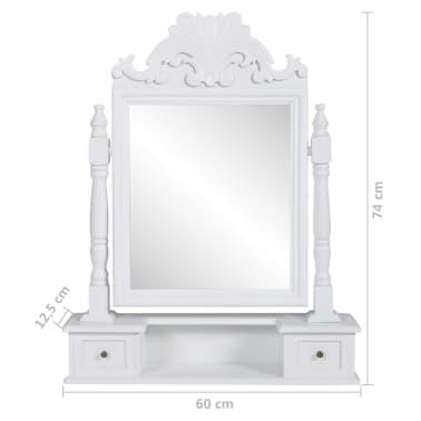 vidaXL Tocador con espejo abatible rectangular de MDF[6/6]