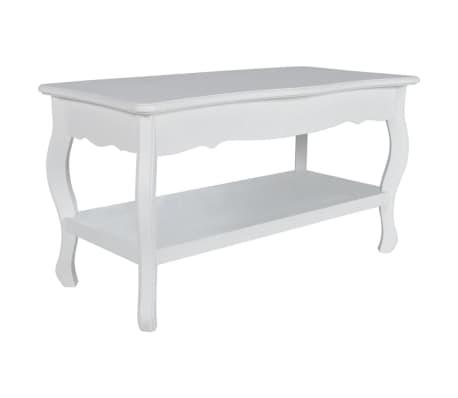 vidaXL Kavos staliukas, 2 lygių, MDF, baltas[2/7]