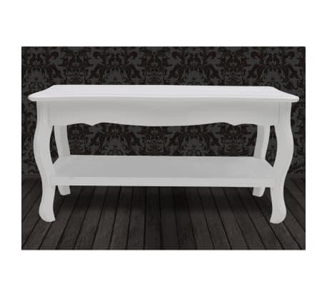vidaXL Kavos staliukas, 2 lygių, MDF, baltas[4/7]