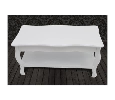 vidaXL Kavos staliukas, 2 lygių, MDF, baltas[5/7]