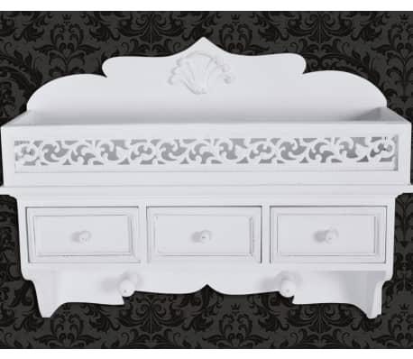 vidaXL Wall Mounted Shelf with 3 Drawers[6/7]