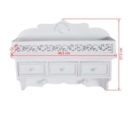 vidaXL Wall Mounted Shelf with 3 Drawers[7/7]