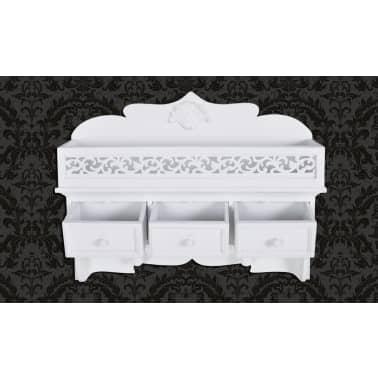 vidaXL Wall Mounted Shelf with 3 Drawers[4/7]