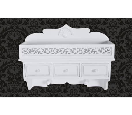 Wall Shelf/Peg with 3 Drawers 2 Hooks-picture