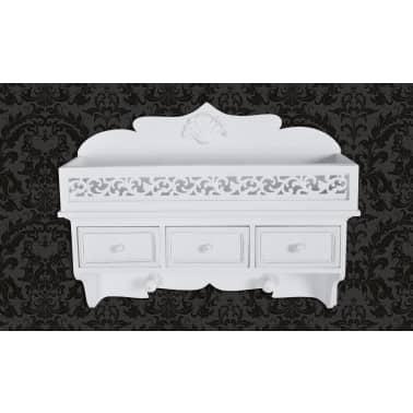vidaXL Wall Mounted Shelf with 3 Drawers[1/7]