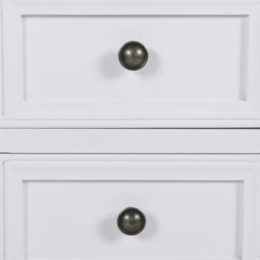 vidaXL Table de chevet avec 2 tiroirs MDF Blanc [5/6]