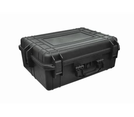 vidaXL Transport Hard-Case Black w/ Foam 9.2 gal capacity[2/5]