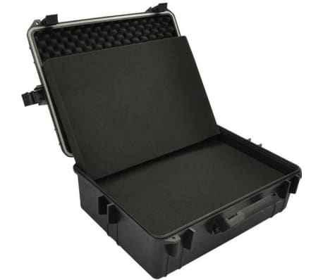 vidaXL Transport Hard-Case Black w/ Foam 9.2 gal capacity[5/5]