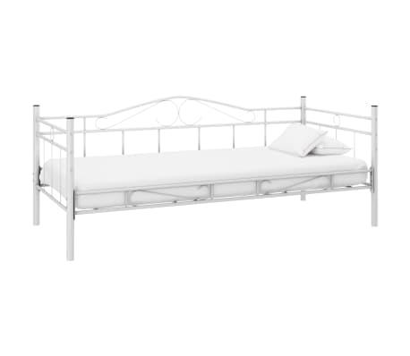 Einzelbett weiß metall  Metallbett Einzelbett 90 x 200 cm weiß günstig kaufen | vidaXL.de