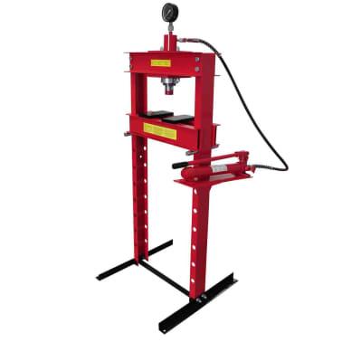 20 Ton Air Hydraulic Floor Shop Press H Type[1/5]