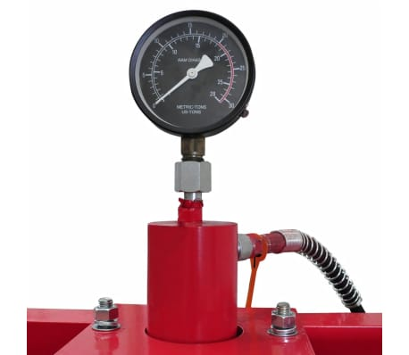 20 Ton Air Hydraulic Floor Shop Press H Type[5/5]