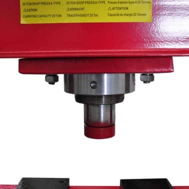 20 Ton Air Hydraulic Floor Shop Press H Type[4/5]