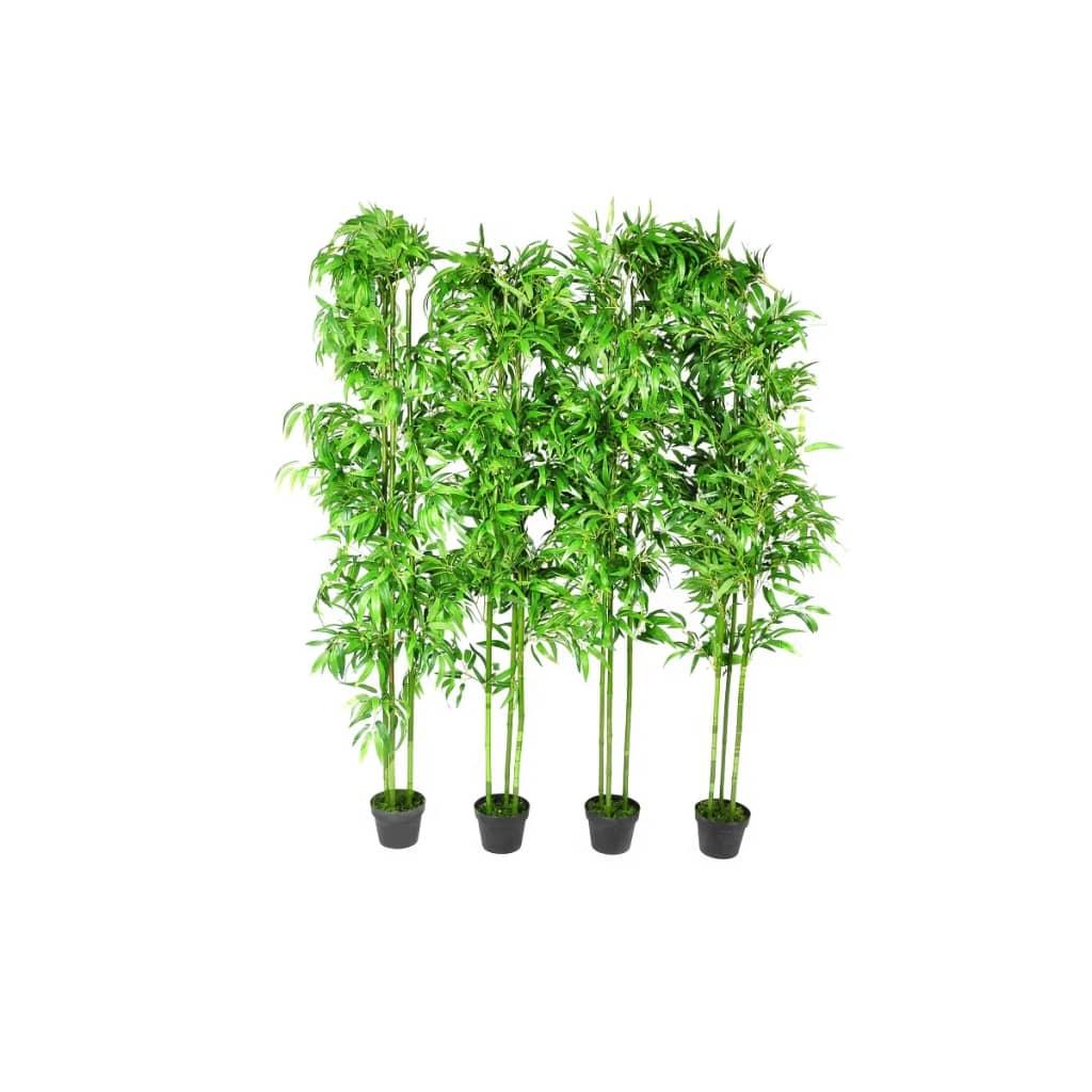 Sada čtyř kusů umělých bambusových stromů 190cm