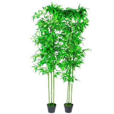 Acheter lot de 2 bambous artificiels d cor int rieur 190 for Solde plante interieur