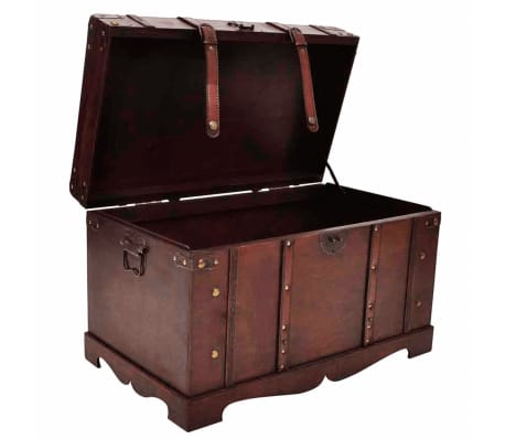 vidaXL Vintage Large Wooden Treasure Chest[4/7]