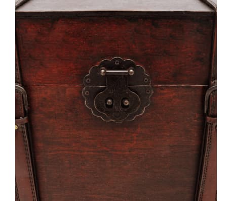vidaXL Vintage Large Wooden Treasure Chest[5/7]