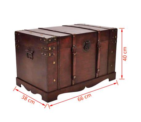 vidaXL Vintage Large Wooden Treasure Chest[7/7]