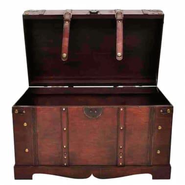 vidaXL Vintage Large Wooden Treasure Chest[3/7]