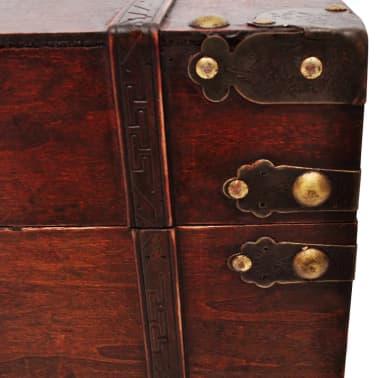 vidaXL Vintage Large Wooden Treasure Chest[6/7]