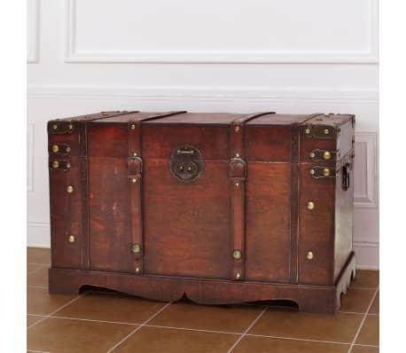 vidaXL Vintage Large Wooden Treasure Chest[1/7]