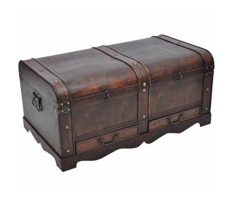 vidaXL Wooden Treasure Chest Large Brown-picture