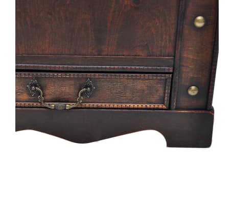 vidaXL Wooden Treasure Chest Large Brown[6/9]