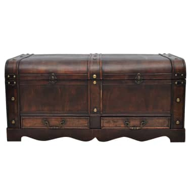 vidaXL Wooden Treasure Chest Large Brown[4/9]