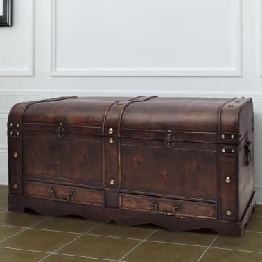 vidaXL Wooden Treasure Chest Large Brown[1/9]