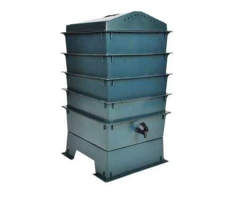 vidaXL 4-Tray Worm Factory 42x42x60 cm