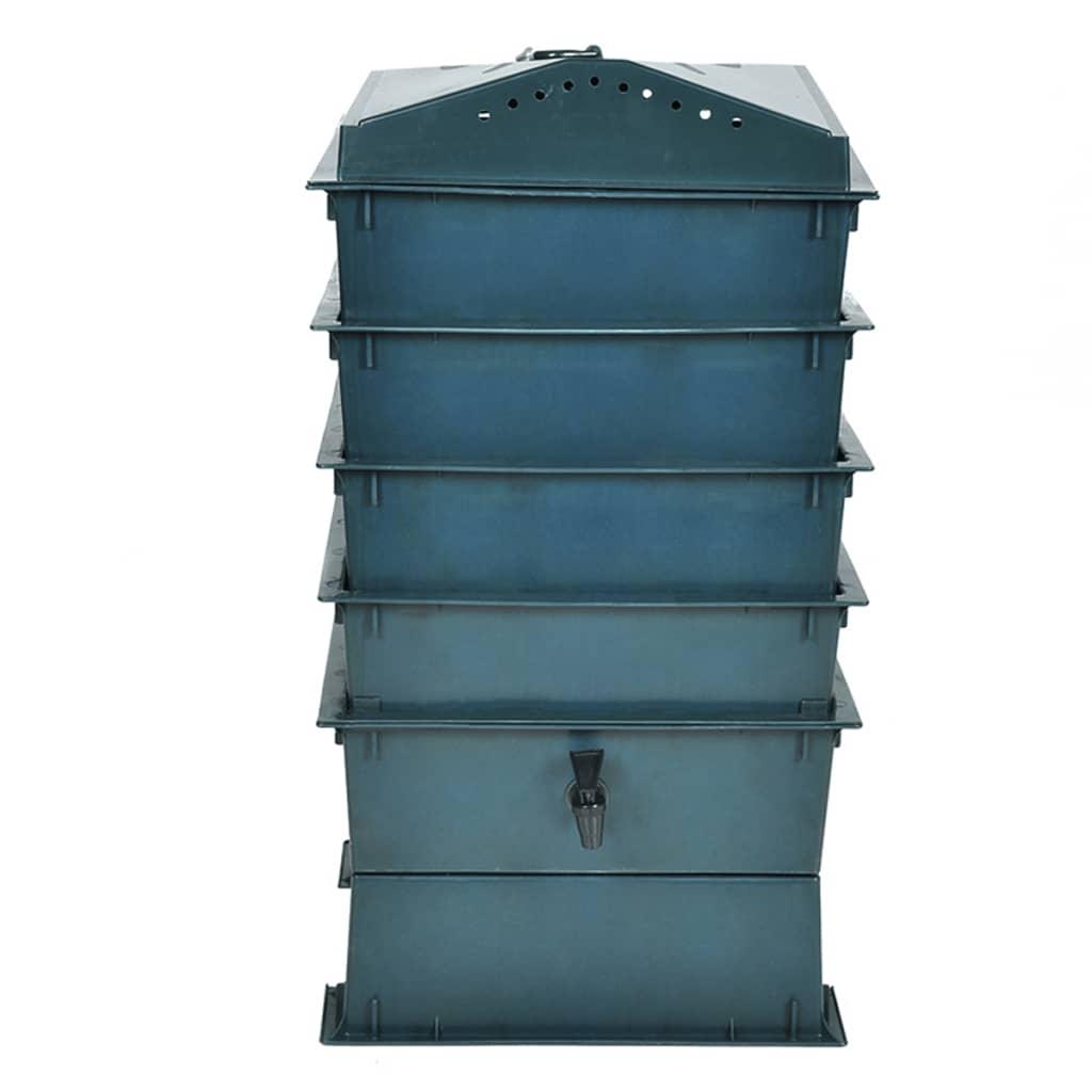 Kompostér na červy, 4 zásobníky, 42x42x60 cm