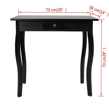 vidaXL Console Table MDF Black[4/4]