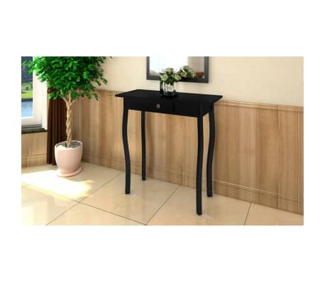 vidaXL Console Table MDF Black[1/4]