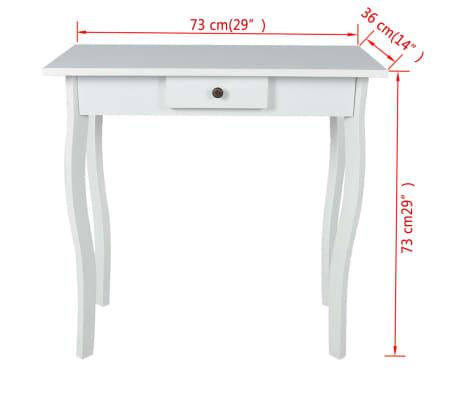 vidaXL Table console MDF Blanc[4/4]