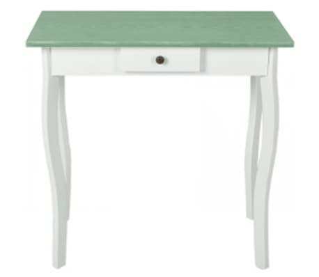 vidaXL Table console MDF Blanc et marron grisâtre[1/4]