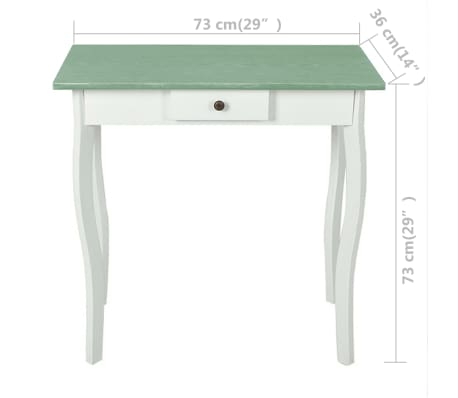 vidaXL Console Table MDF White and Greyish Brown[3/4]