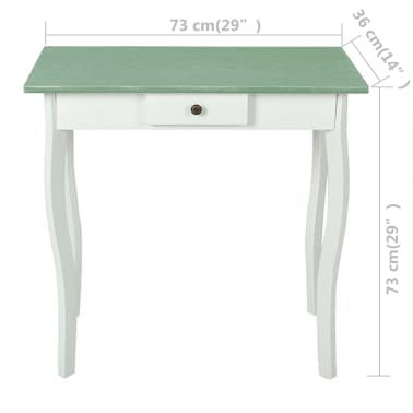 vidaXL Table console MDF Blanc et marron grisâtre[3/4]