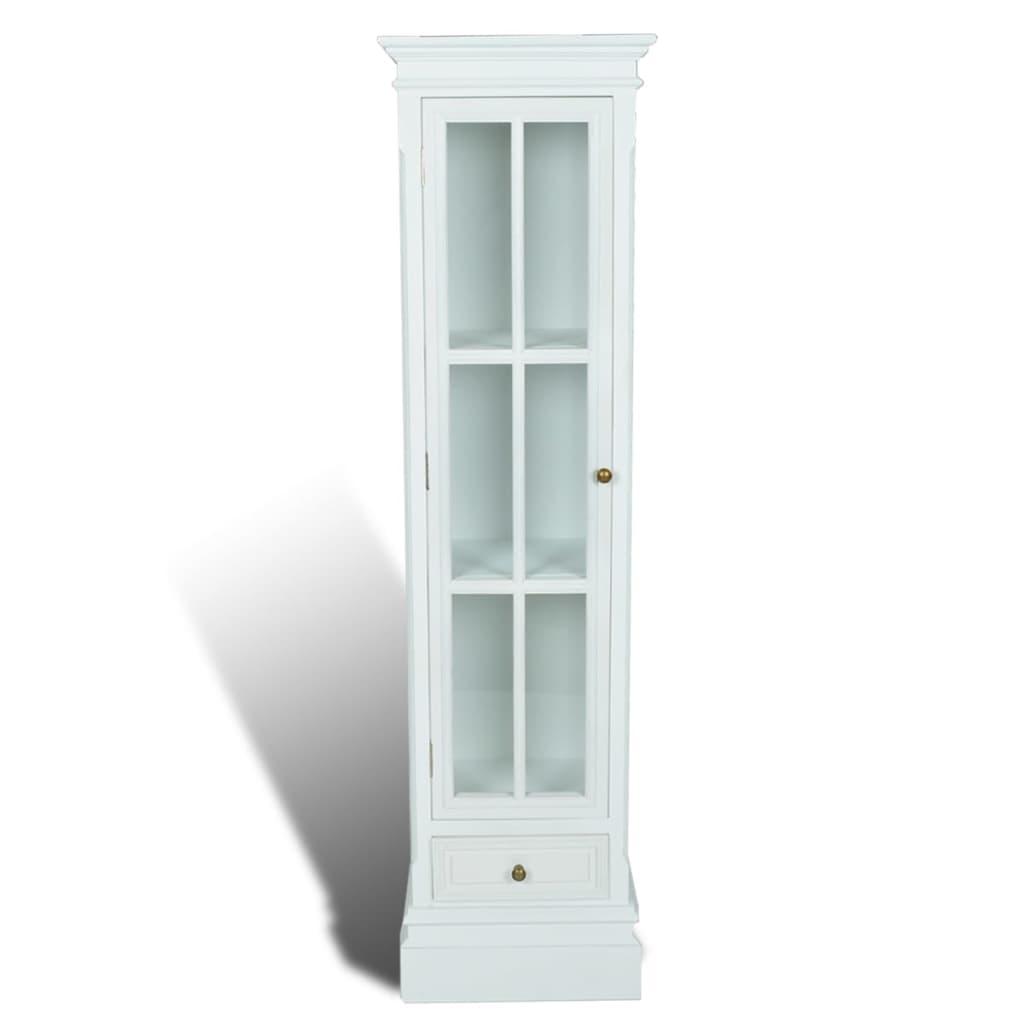 vidaXL Βιβλιοθήκη Βιτρίνα Κομψή με 3 Ράφια Λευκή Ξύλινη