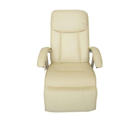 vidaXL Masažinis krėslas, elektrinis, dirbtinė oda, kreminės baltos sp.[2/7]